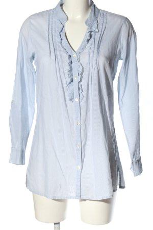 Atmosphere Hemd-Bluse blau-weiß Streifenmuster Elegant