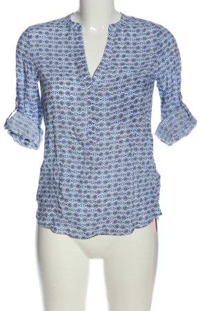 Atmosphere Hemd-Bluse weiß-blau abstraktes Muster Casual-Look