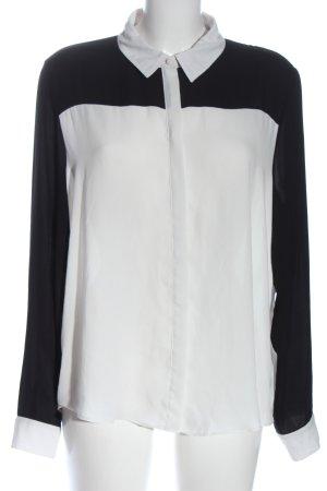 Atmosphere Hemd-Bluse weiß-schwarz Casual-Look