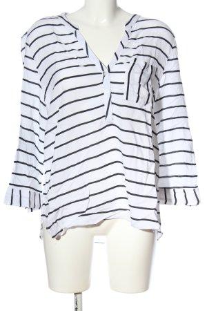 Atmosphere Hemd-Bluse weiß-schwarz Streifenmuster Casual-Look
