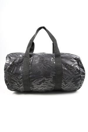 Atmosphere Sac Baril noir-argenté motif abstrait style décontracté