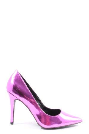 Atmosphere High Heels pink Glanz-Optik