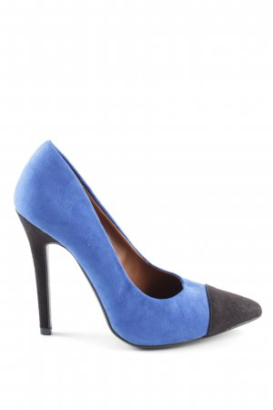 Atmosphere High Heels blau-schwarz Business-Look