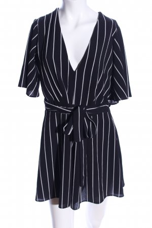 Atmosphere Jumpsuit black-white striped pattern casual look