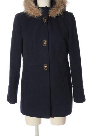 Atmosphere Płaszcz z kapturem niebieski W stylu casual