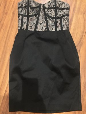Atmosphere Vestido corsage negro-beige