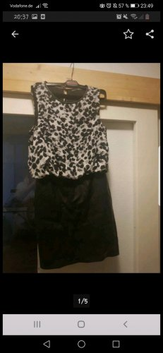 Atmosphere Kleid Gr. 38 S M Lederrock schwarz weiß Rock Bluse