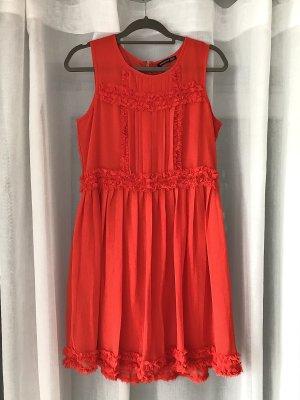 Atmosphere Kleid Sommerkleid kurzes Kleid oranges Kleid Korallenrot Minikleid Cocktailkleid Abendkleid