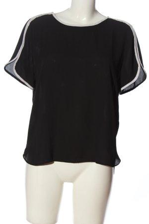 Atmosphere Short Sleeved Blouse black-white casual look