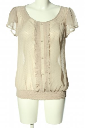 Atmosphere Kurzarm-Bluse creme Punktemuster Casual-Look