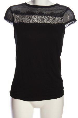 Atmosphere Kurzarm-Bluse schwarz Casual-Look