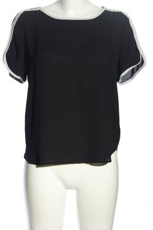 Atmosphere Kurzarm-Bluse schwarz-weiß Casual-Look