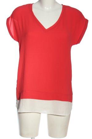 Atmosphere Kurzarm-Bluse rot-weiß Elegant