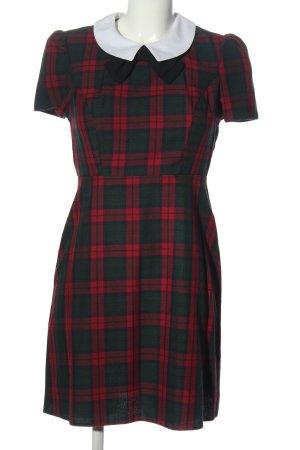 Atmosphere Sukienka z krótkim rękawem Wzór w kratkę W stylu biznesowym