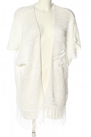 Atmosphere Short Sleeve Knitted Jacket white casual look