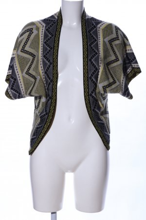 Atmosphere Short Sleeve Knitted Jacket graphic pattern casual look
