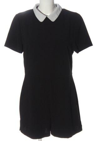 Atmosphere Kurzer Jumpsuit schwarz-weiß Elegant