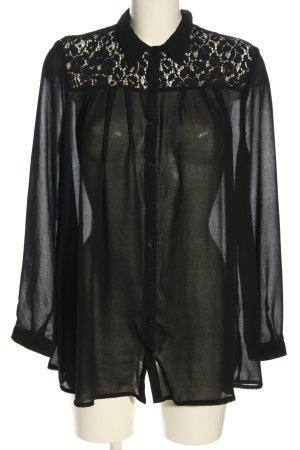 Atmosphere Langarm-Bluse schwarz Casual-Look