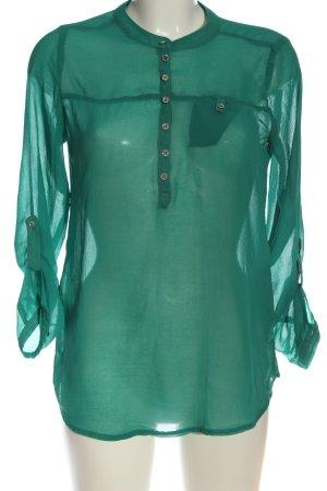 Atmosphere Langarm-Bluse grün Casual-Look