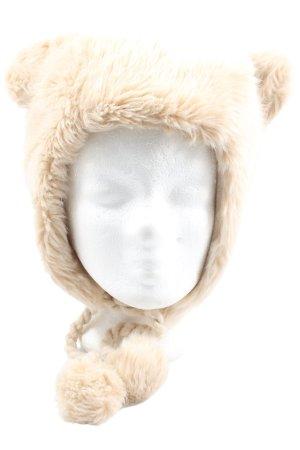 Atmosphere Bonnet cache-oreilles blanc cassé style décontracté