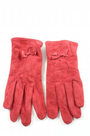 Atmosphere Leather Gloves red casual look