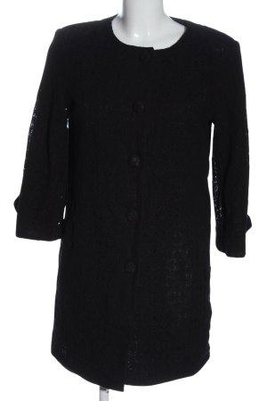 Atmosphere Lange blazer zwart zakelijke stijl