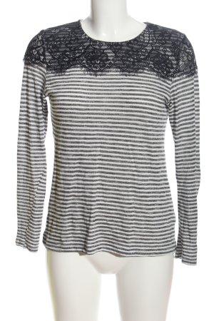 Atmosphere Longshirt schwarz-weiß Allover-Druck Casual-Look