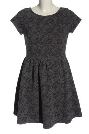 Atmosphere Robe mi-longue gris clair-noir imprimé allover style décontracté