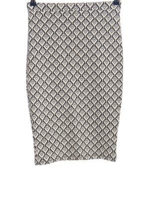 Atmosphere Spódnica midi biały-czarny Na całej powierzchni W stylu casual