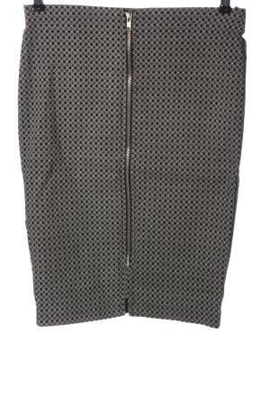 Atmosphere Spódnica midi czarny-biały Na całej powierzchni W stylu casual