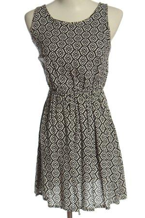 Atmosphere Sukienka mini czarny-biały Na całej powierzchni W stylu casual