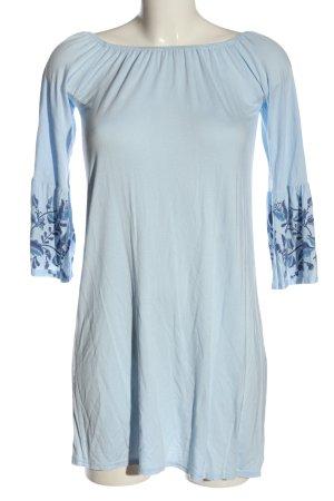 Atmosphere Robe courte bleu motif de fleur élégant