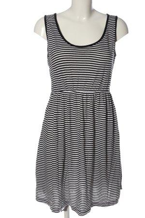 Atmosphere Minikleid schwarz-weiß Streifenmuster Casual-Look