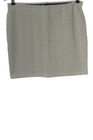 Atmosphere Mini-jupe blanc-noir imprimé allover style décontracté