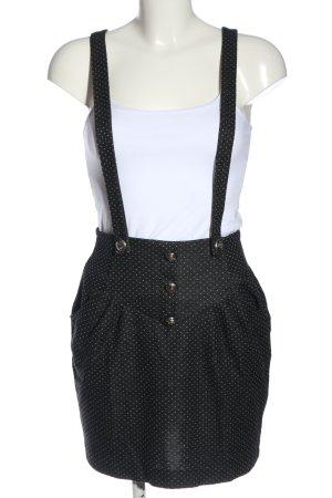 Atmosphere Minigonna nero-bianco motivo a pallini stile casual
