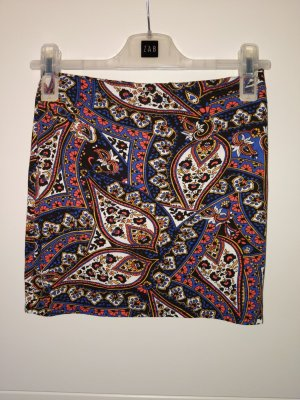 atmosphere minirock Größe XS 34 Paisley Muster bunt Orient Bollywood Stretch Mini Rock