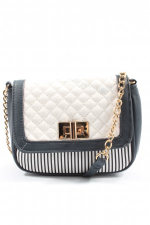 Atmosphere Mini Bag blue-white quilting pattern casual look