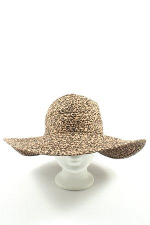 Atmosphere Chapeau panama motif léopard style décontracté