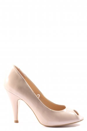 Atmosphere Peeptoe Pumps creme Business-Look
