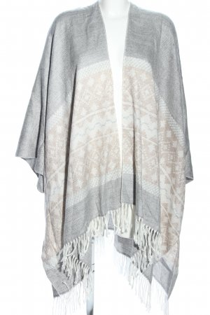 Atmosphere Poncho grafisches Muster Casual-Look