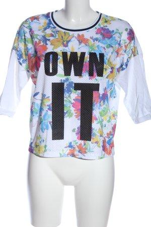 Atmosphere Print-Shirt Blumenmuster Casual-Look