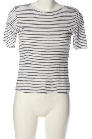 Atmosphere Stripe Shirt white-black striped pattern casual look