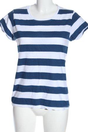Atmosphere Ringelshirt weiß-blau Allover-Druck Casual-Look