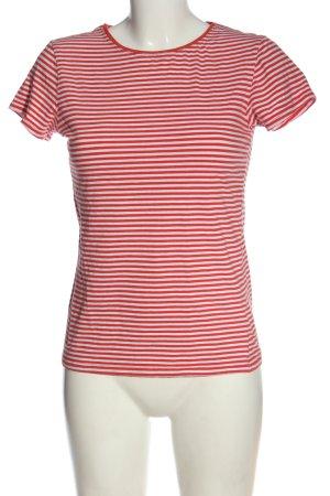 Atmosphere Camisa acanalada rojo-blanco look casual
