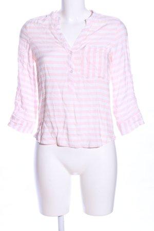 Atmosphere Chemise côtelée rose-blanc motif rayé style décontracté