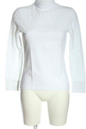 Atmosphere Camisa de cuello de tortuga blanco look casual