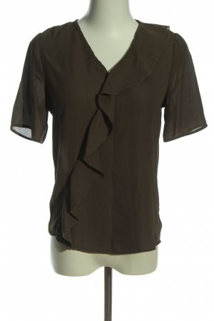 Atmosphere Rüschen-Bluse khaki Business-Look