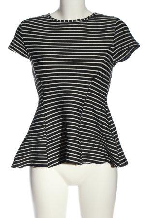 Atmosphere Rüschen-Bluse schwarz-weiß Streifenmuster Casual-Look