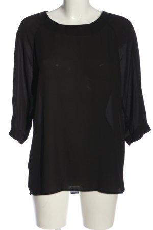 Atmosphere Schlupf-Bluse schwarz Casual-Look