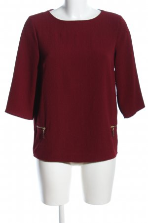 Atmosphere Schlupf-Bluse rot Business-Look